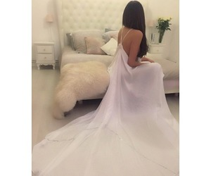 dress, girl, and room image