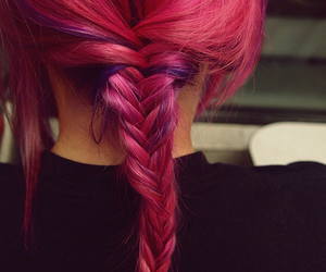 girly, pink, and plait image