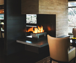 house, fire, and luxury image