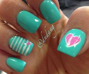 cute girly nails... image