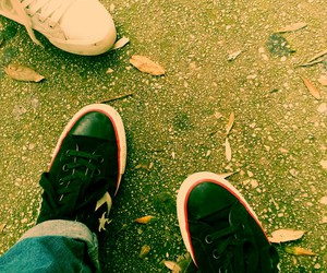 all star, converse, and school image