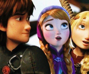 astrid, hiccup, and dreamworks image