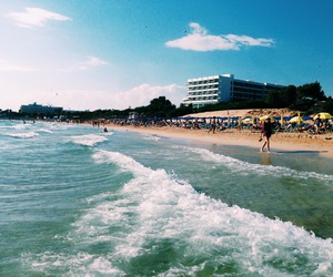 beach, blue, and cyprus image