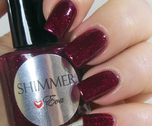 nails, nice, and red image