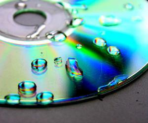 music, waterdrops, and cd image