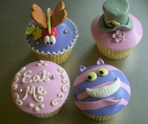 alice in wonderland, cupcakes, and cute image