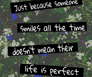 quote, floral, and flowers image