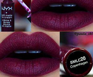 lips, NYX, and lipstick image