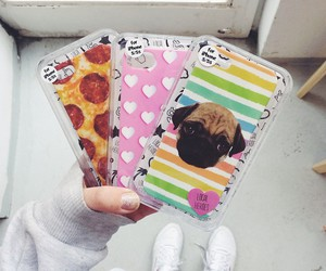 case, dog, and pizza image