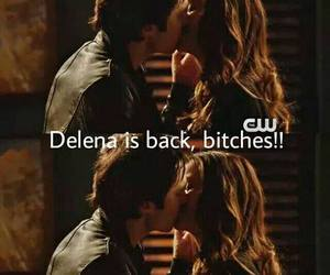 delena, Nina Dobrev, and the vampire diaries image