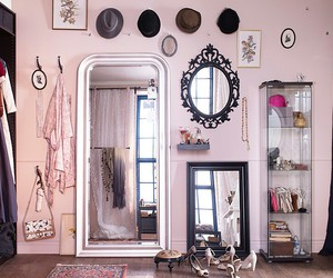 dressing room, pink, and love image