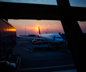 airplane, travel, and airport image