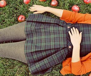 apple, autumn, and dress image
