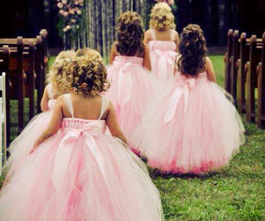 pink, wedding, and girls image