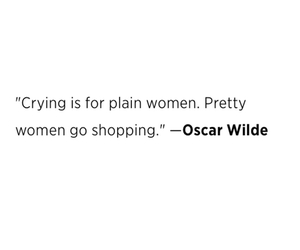 quote, shopping, and cry image