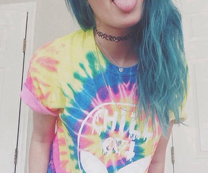 grunge, hair, and blue hair image
