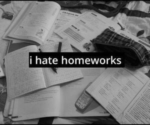 homework, hate, and school image