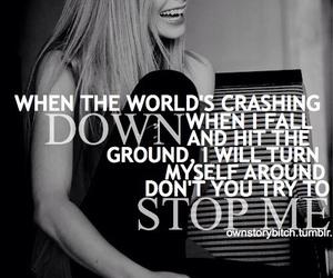 Avril Lavigne, quote, and Lyrics image