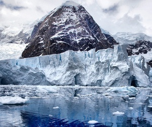 antartica, mountain, and winter image