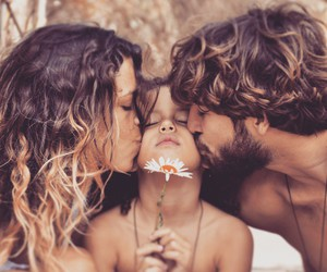 family, love, and flowers image