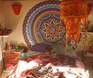 hippie, bedroom, and room image