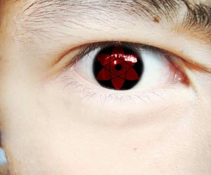 anime, eye, and red eye image