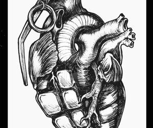 Grenade and heart image