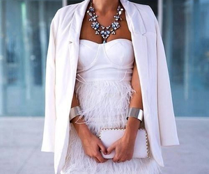 fashion, dress, and white image