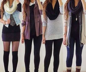 fall, girl, and outfit image