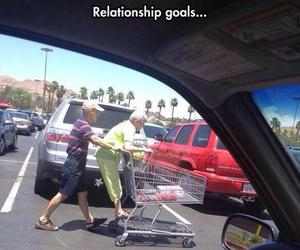 funny, old couple, and relationship goals image