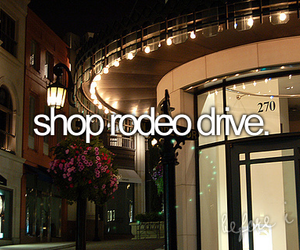 lights, rodeo drive, and city image