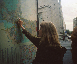 girl and map image