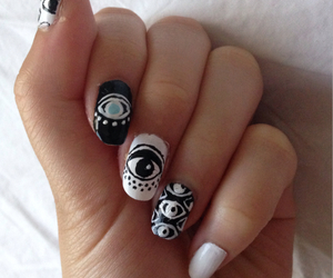 nails, hipster, and nail art image