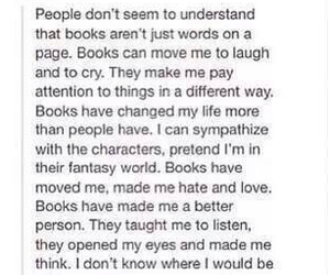 books, characters, and cry image