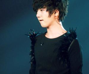 black, black hair, and handsome image