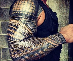 wwe, roman reigns, and tattoo image