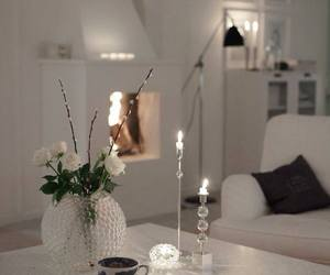 home, candles, and white image
