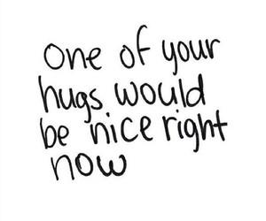 hug, nice, and sad image