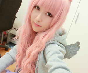 kawaii, girl, and pink image