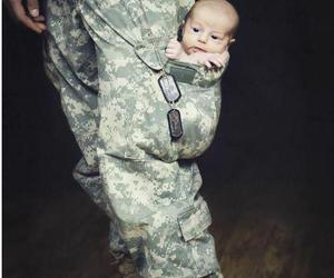 baby, army, and soldier image