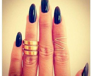 black, nails, and colors image