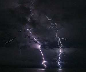 lightning and nature image