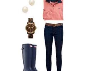 jeans, vineyard vines, and pearls image