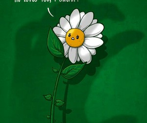 flowers, love, and funny image