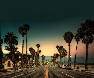 summer, california, and road image