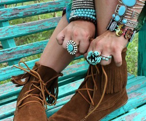 shoes, rings, and bracelet image