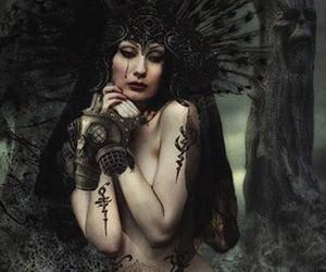 gothic, ladie, and tattos image