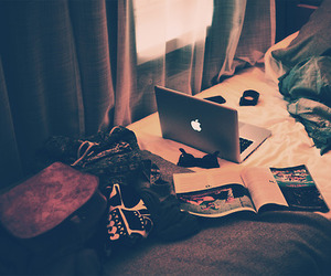 apple, bed, and mac image