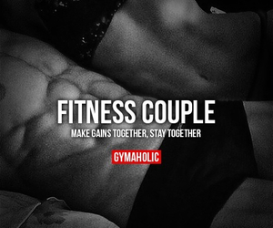 couple, pretty, and fitness image
