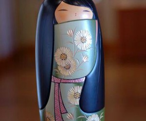 doll, wooden, and japan image